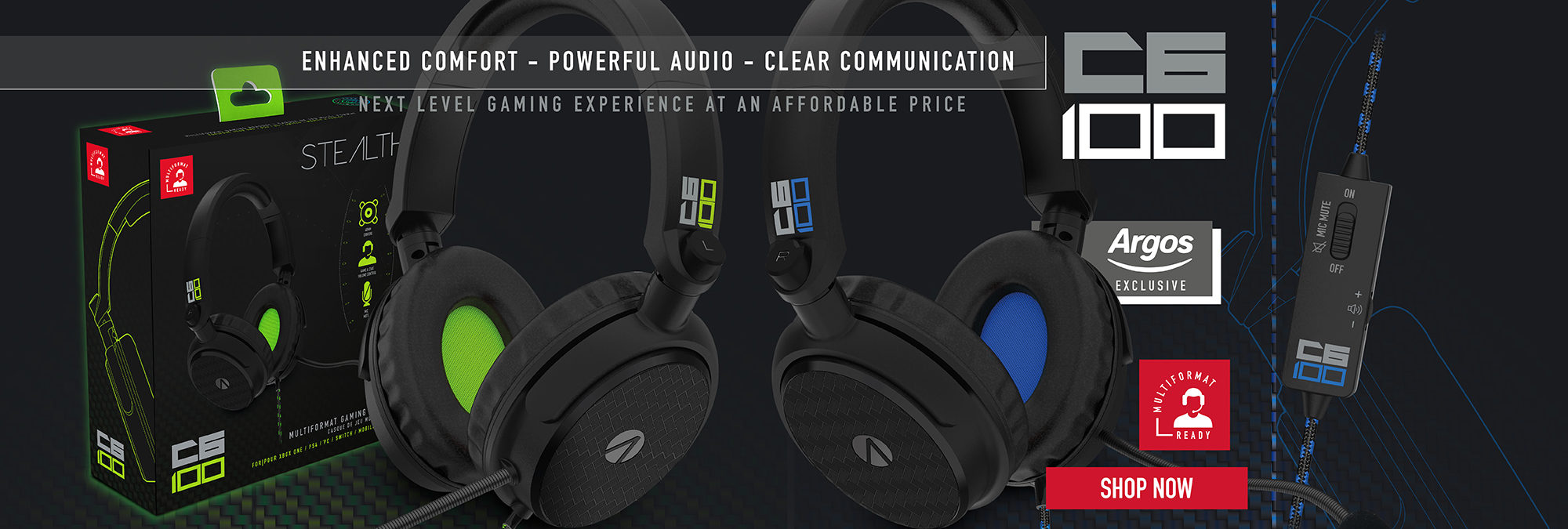STEALTH C6-100 Green and Blue Exclusive to Argos!