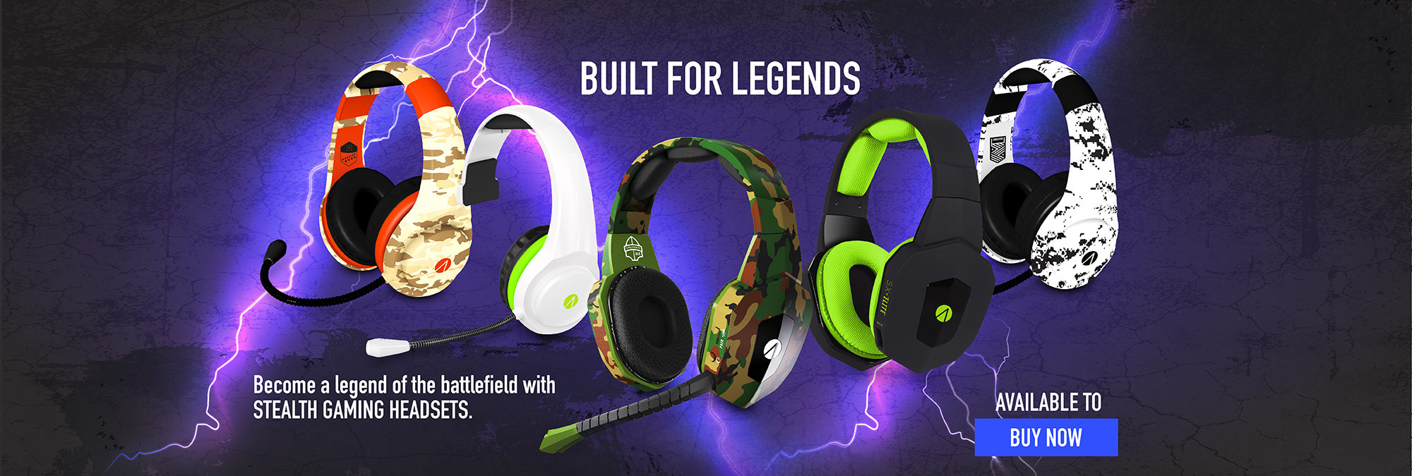 Legendary SX and XP Stealth Headsets